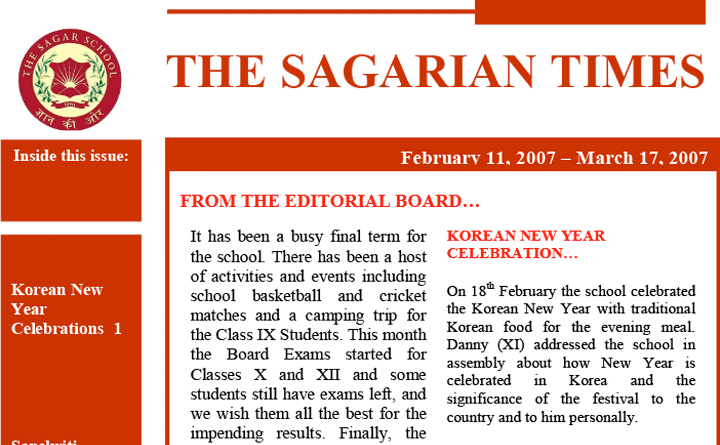 The Sagarian Times February - March 2007