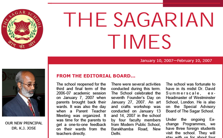 The Sagarian Times January - February 2007