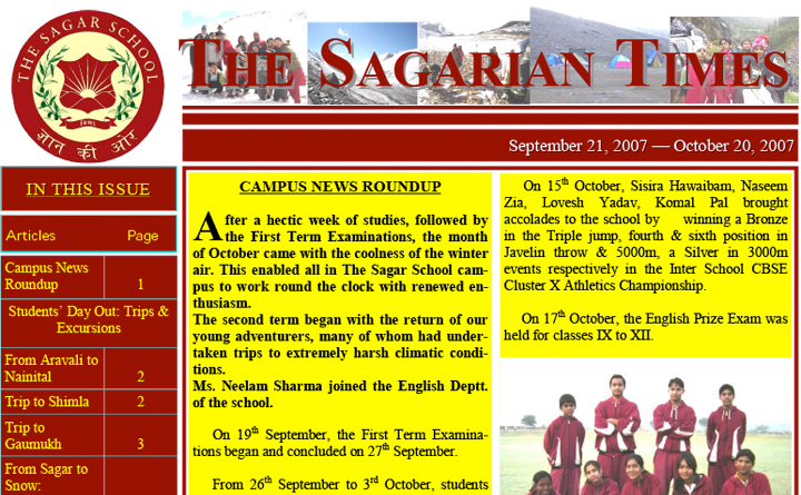 The Sagarian Times September - October 2007