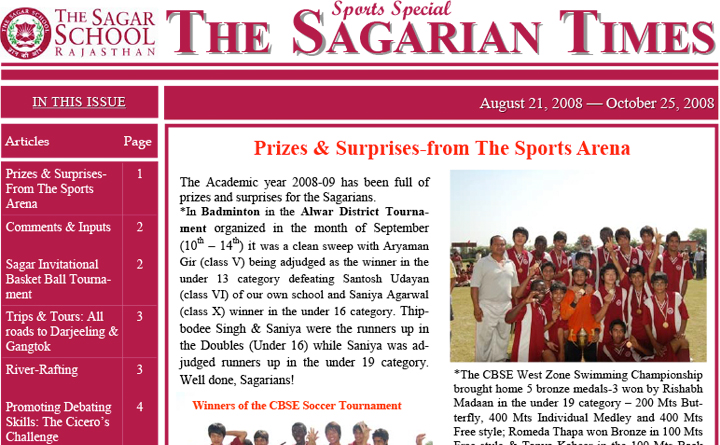The Sagarian Times August - October 2008