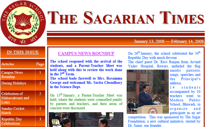 The Sagarian Times January - February 2008