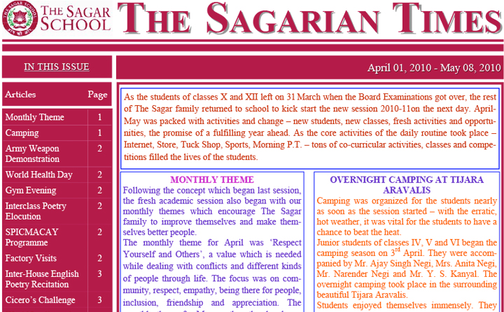 The Sagarian Times April - May 2010