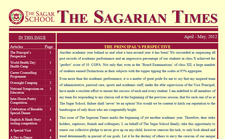 The Sagarian Times April - May 2012