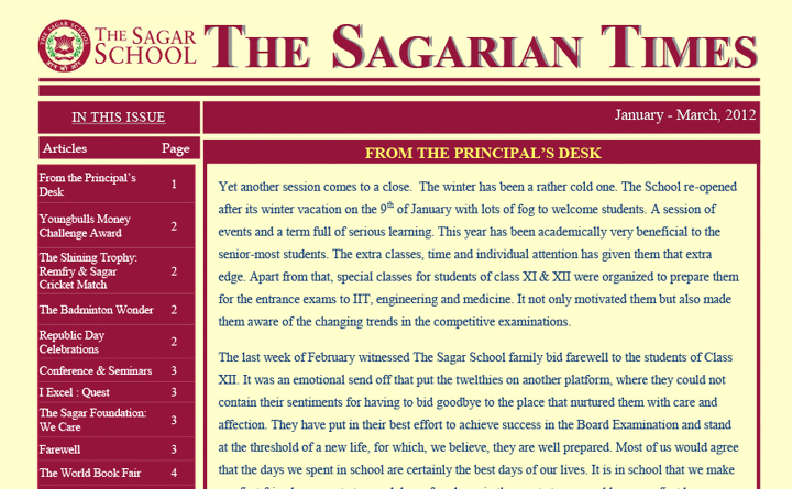 The Sagarian Times January - March 2012