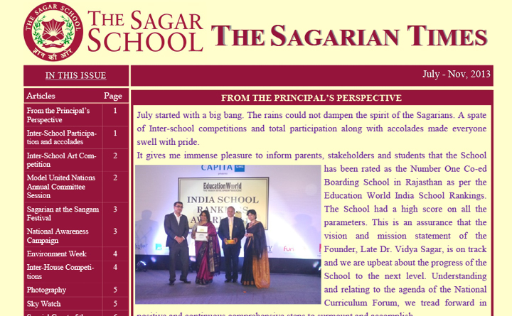 The Sagarian Times July - November 2013