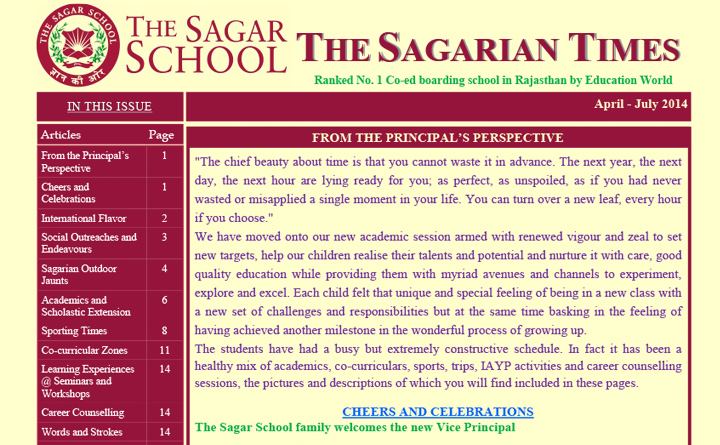 The Sagarian Times April - July 2014
