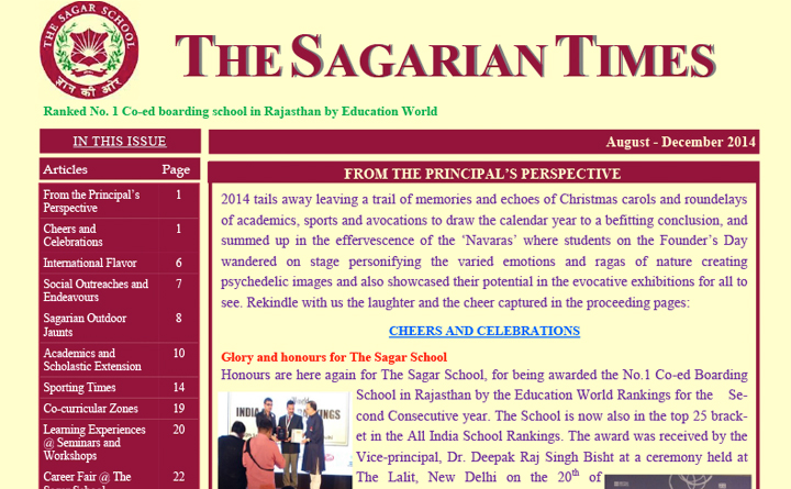 The Sagarian Times August - December 2014
