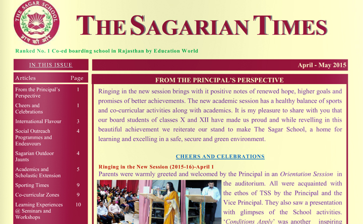 The Sagarian Times April - May 2015