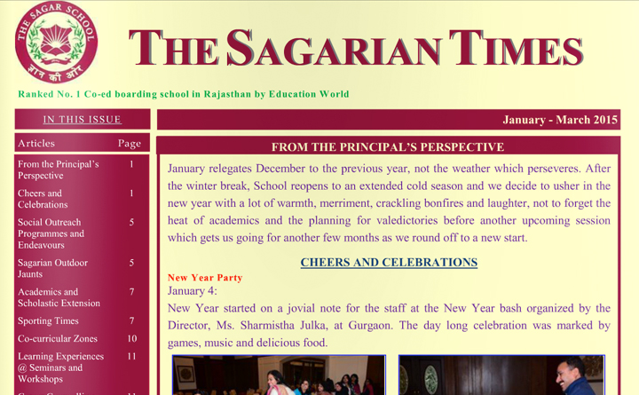 The Sagarian Times January - March 2015