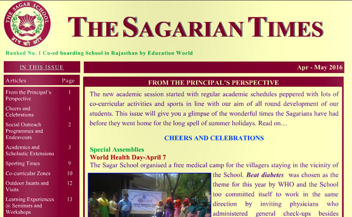The Sagarian Times April - May 2016