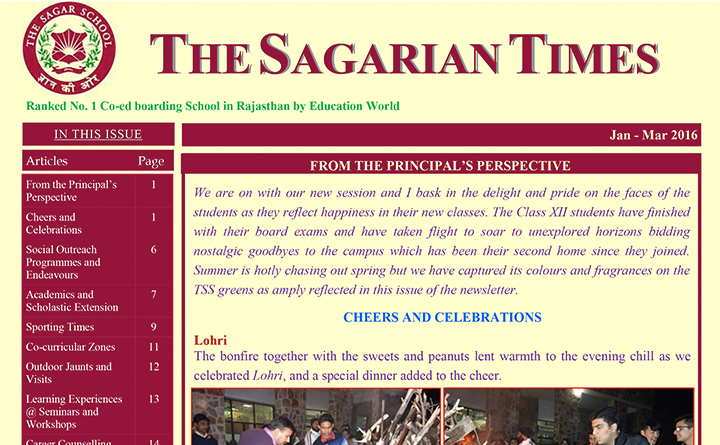 The Sagarian Times January - March  2016
