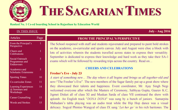 The Sagarian Times July - August  2016