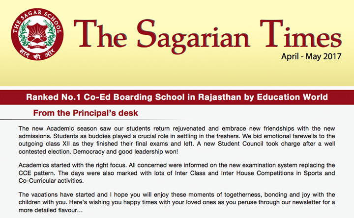 The Sagarian Times April - May 2017