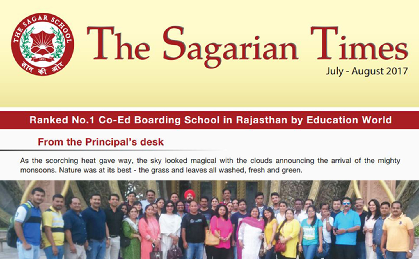 The Sagarian Times July - August 2017